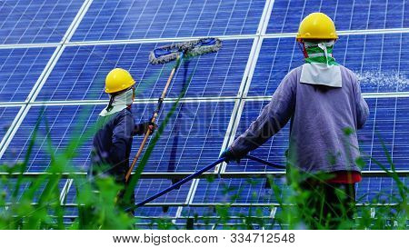 Solar Panel, Alternative Electricity Source - Concept Of Sustainable Resources, This's The Sun Track