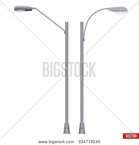 Street Light Lamp Post. Sample Urban Lamppost Model. Used Light Bulbs And Leds. Urban Equipment Lant