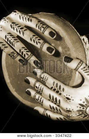 Hands With Oriental Tattoo