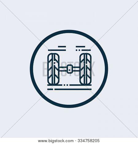 Wheel Alignment Icon Isolated On White Background. Wheel Alignment Icon Simple Sign. Wheel Alignment