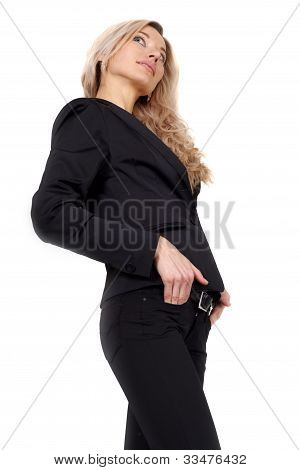 Business Woman Standing Dreaming