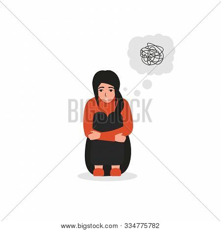 Woman With Confused Thoughts, Dissociative Identity Disorder, Psychiatric, Mental Problems.