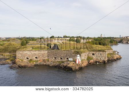 Suomenlinna Sea Fortress, Unesco World Heritage Site, At The Coast Of Baltic Sea, Helsinki, Finland