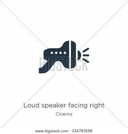 Loud Speaker Facing Right Icon Vector. Trendy Flat Loud Speaker Facing Right Icon From Cinema Collec