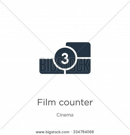 Film Counter Icon Vector. Trendy Flat Film Counter Icon From Cinema Collection Isolated On White Bac