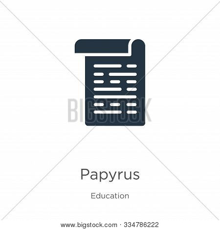 Papyrus Icon Vector. Trendy Flat Papyrus Icon From Education Collection Isolated On White Background