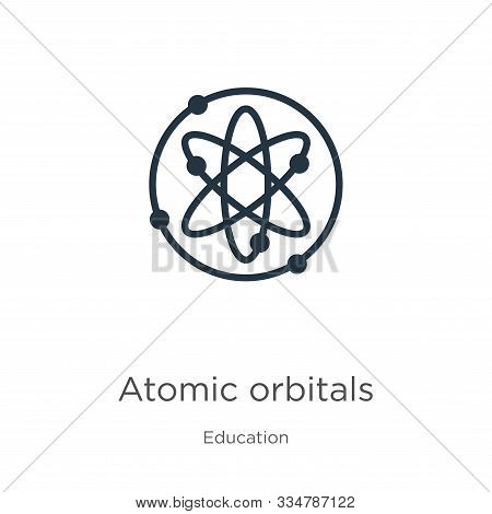 Atomic Orbitals Icon Vector. Trendy Flat Atomic Orbitals Icon From Education Collection Isolated On