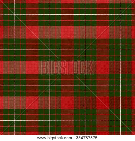 Christmas And New Year Tartan Plaid. Scottish Pattern In Green, Red And White Cage. Scottish Cage. T