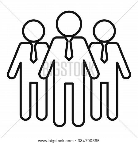 Opportunity Group Icon. Outline Opportunity Group Vector Icon For Web Design Isolated On White Backg