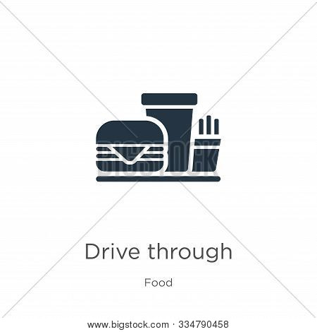 Drive Through Icon Vector. Trendy Flat Drive Through Icon From Food Collection Isolated On White Bac