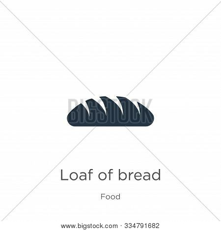 Loaf Of Bread Icon Vector. Trendy Flat Loaf Of Bread Icon From Food Collection Isolated On White Bac