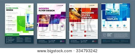 Flyer Template Layout Design. Corporate Business Flyer, Report, Catalog, Magazine Mockup. Creative M