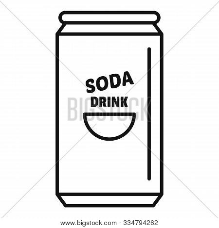 Soda Tin Can Calories Icon. Outline Soda Tin Can Calories Vector Icon For Web Design Isolated On Whi