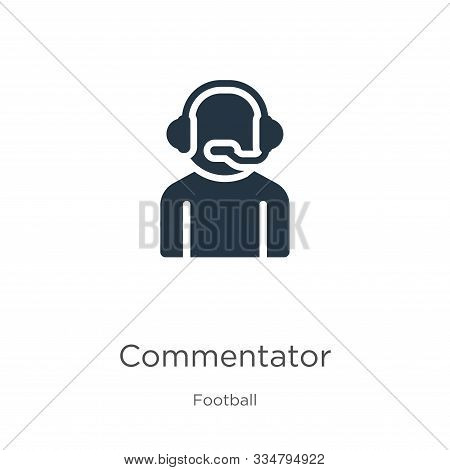 Commentator Icon Vector. Trendy Flat Commentator Icon From Football Collection Isolated On White Bac