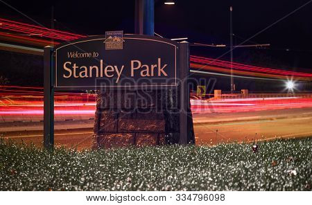 Vancouver, Canada - September 24,2019: View Of Sign