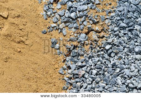 Rock And Sand For Building