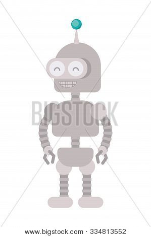 Robot design, Robotic tecnology futuristic toy machine cyborg science and android theme Vector illustration poster