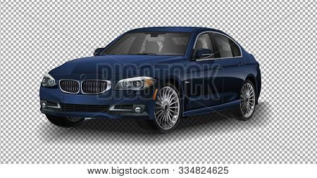 Saint-petersburg, Russia - September 16, 2017: Vector Cars Bmw 5-series For Rally Car Bmw. Vector Il