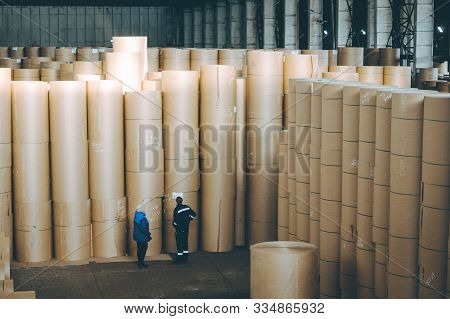 Storage Paper Carton Paper Factory Many Bobbin