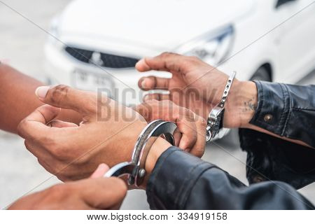Professional Police Officer Has To Be Very Strong,officer Arresting.