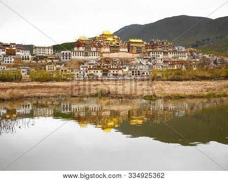 Shangri-la Monastery Or Songzanlin Temple. It Is A Tibetan Buddhist Monastery