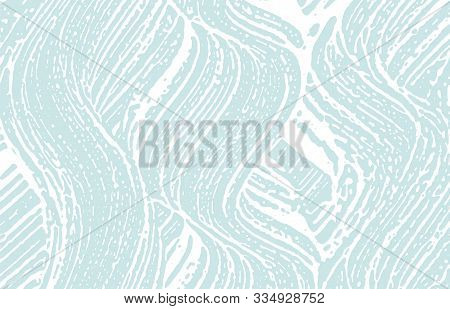 Grunge Texture. Distress Blue Rough Trace. Bewitching Background. Noise Dirty Grunge Texture. Posh A