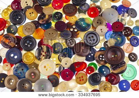 Plastic Buttons, Colorful Buttons Background,