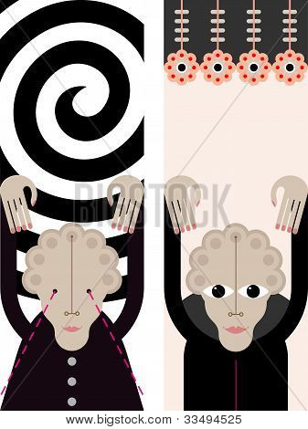 Hypnosis - Vector Illustration