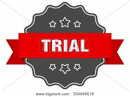 Trial Red Label. Trial Isolated Seal. Trial