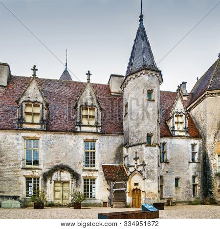 Chateau De Chateauneuf Is A 15th-century Fortress In The Commune Of Chateauneuf,  France. Courtyard