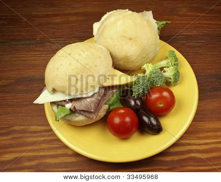 Sandwiches On A Bun