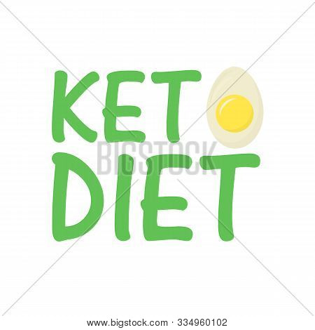 Keto Diet With Egg. Healthy Food - Fats, Proteins And Carbs. Low Carbs Ketogenic Diet Food. Vector I