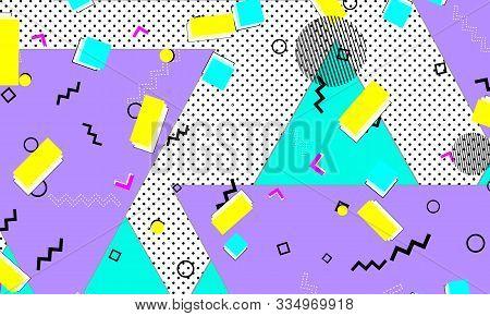 Trendy Ultramarine Design. Violet Childish Pattern. Doodle Artwork. Yellow Composition. Modern Print