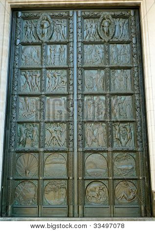 decorative metal door