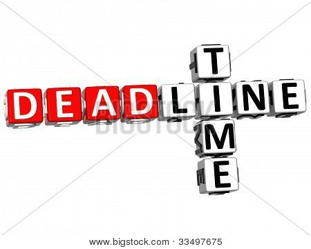 3D Deadline Time Crossword