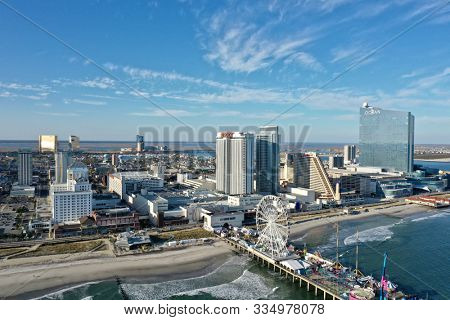 Atlantic City, N.J/USA/Oct. 22, 2019: Atlantic City has had a bump in revenue due to the legal sports betting.