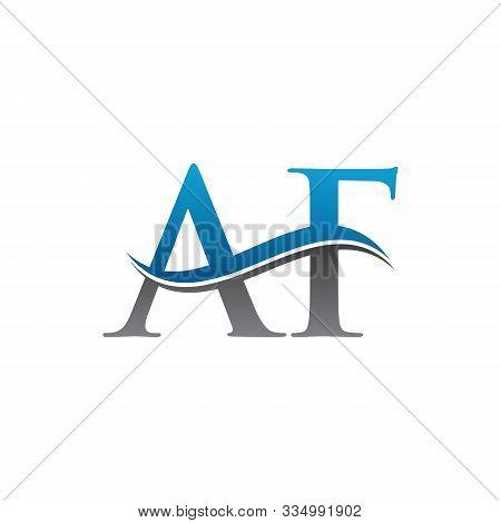 Initial Letter Af Logo Vector. Simple Af Letter Logo. Creative Af Font Type Logo.