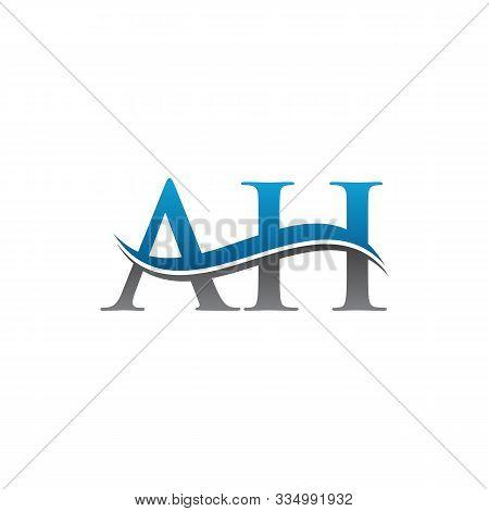 Creative Letter Ah Business Logo Vector Template. Initial Ah Letter Logo. Simple Ah Font Type Logo.
