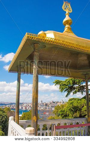 Istanbul, Turkey - September 6th 2019. The Iftariye Balcony In Topkapi Palace, Also Known As The Ift