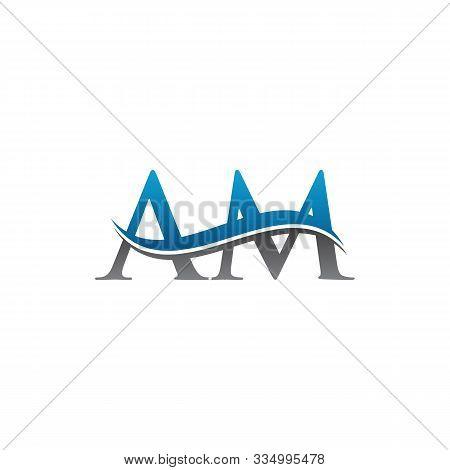 Am Letter Logo Vector Design. Logotype Am Letter Design. Am Font Type Logo.