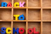 Back to school and Colorful Letters of Alphabet poster