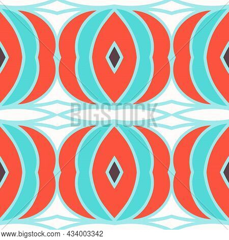 Seamless Background With Simple Geometrical Drawing. Vector Illustration.