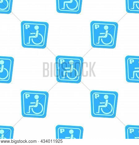 Invalid Parking Pattern Seamless Background Texture Repeat Wallpaper Geometric Vector