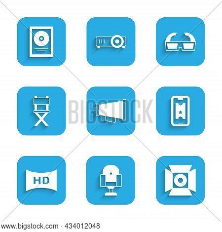 Set Megaphone, Director Movie Chair, Movie Spotlight, Buy Cinema Ticket Online, Hd Movie, Tape, Fram