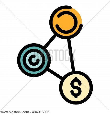 Investor Money Scheme Icon. Outline Investor Money Scheme Vector Icon Color Flat Isolated