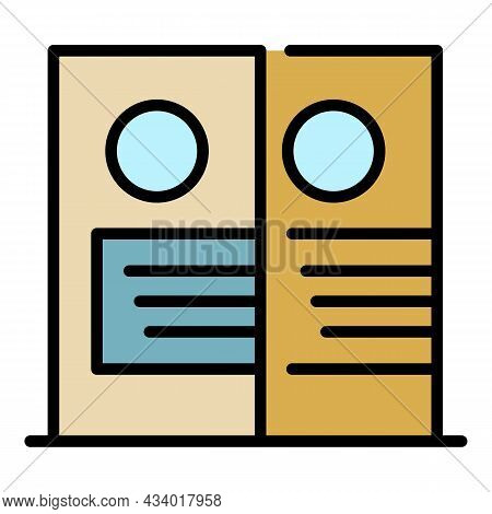 Hair Dye Box Icon. Outline Hair Dye Box Vector Icon Color Flat Isolated