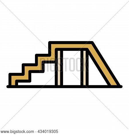 Dog Training Stairs Icon. Outline Dog Training Stairs Vector Icon Color Flat Isolated