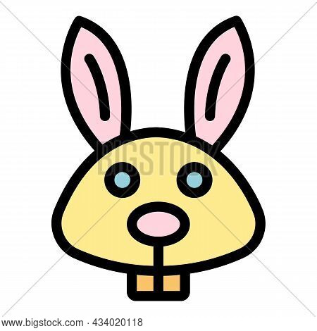 Hare Icon. Outline Hare Vector Icon Color Flat Isolated