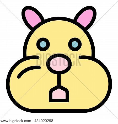 Sick Hamster Icon. Outline Sick Hamster Vector Icon Color Flat Isolated