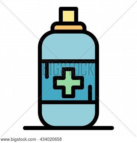 Anti Flea Spray Icon. Outline Anti Flea Spray Vector Icon Color Flat Isolated